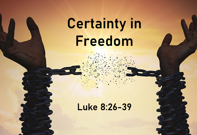 Certainty in Freedom Sermon by Blaque